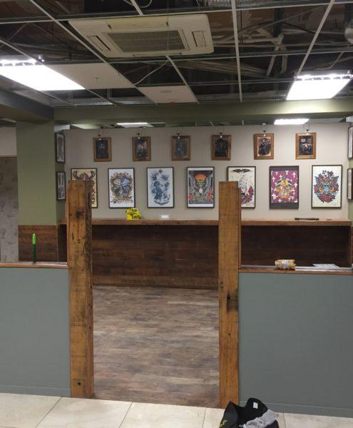 Bohemian Tattoo Arts during renovation