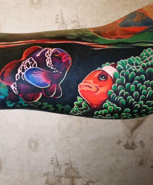 Bohemian Tattoo Arts - Realistic Tattoo Clown fish