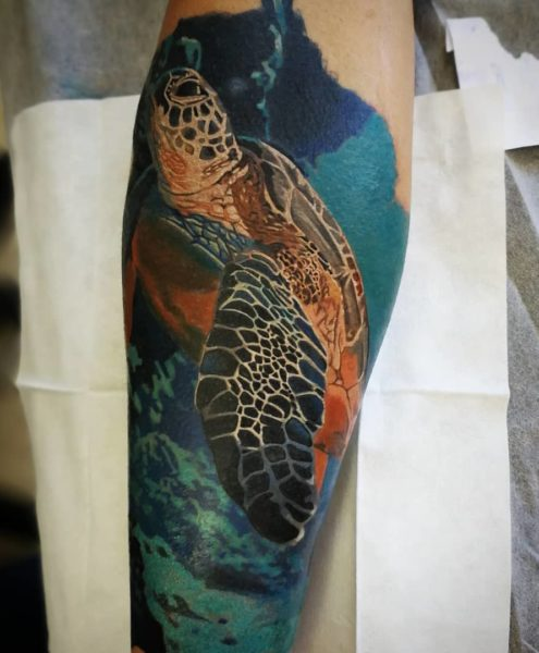 Bohemian Tattoo Arts - Realistic Tattoo Turtle